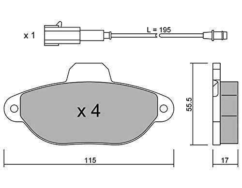 metelligroup 22-0159-2 Bremsbeläge, Made in Italy, Ersatzteile für Autos, ECE R90-zertifiziert, Kupferfrei