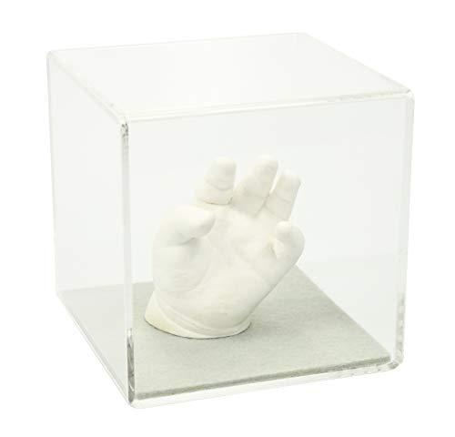 Lucky Hands® Cubos de Cristal acrílico sin inscripción (12 x 12 x 12 cm, Gris)