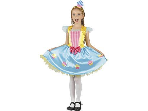 DISONIL Disfraz Reina Cupcake Niña Talla S
