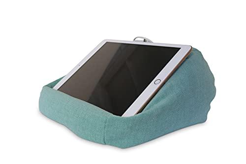 Midas24 iPad Kissen - PadLounge II - Tablet Ständer in Kissenform, Tablet Größe:bis 10.5 Zoll, PadLounge Stofffarbe:Sky
