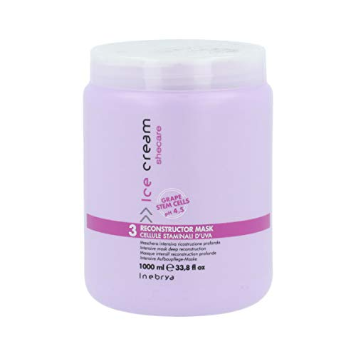 INEBRYA Ice Cream SHECARE RECONSTRUCTOR MASK (WITH GRAPE STEM CELLS) 1000 ML /33.8OZ by Inebrya