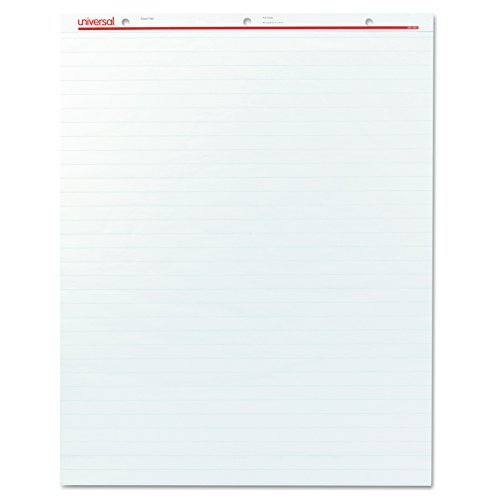 Universal 35601 Recycled Easel Pads, Faint Rule, 27 x 34, White, 50 Sheet (Case of 2)