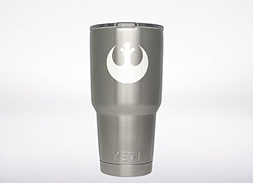 Star Wars Rebel Alliance decal Genuine ViaVinyl brand for Yeti and Rtic tumbler cups, Macbooks and laptops, iPads and tablets, iPhones and cell phones, car and truck automobile windows and more!