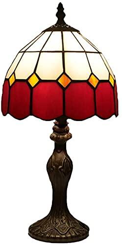 Lámpara De Mesa Estilo Europeo Estilo Retro Escritorio Escritorio Lámpara De Cristal Rojo Lámpara E27 Lectura Lámpara Oficina Sala De Estar Sala De Estar Comedor Antiguo Lámparas Decorativas Para El D