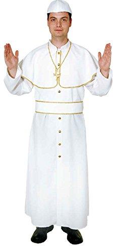 O7000-58-60 Papst - Disfraz para hombre, talla 58-60, color blanco