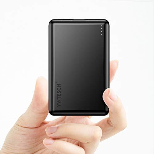 YWTESCH PD Batería Externa 10000mAh, Power Bank Cargador Portátil con Salida USB-A/Type-C...