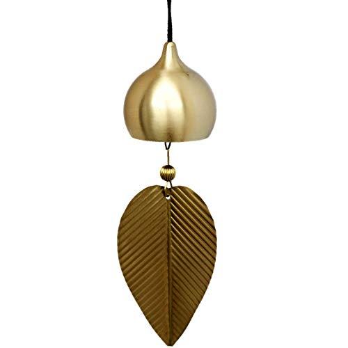 yui Campana de viento de cobre puro campanillas de viento ornamentos exquisitos estilo japonés creativo hogar balcón dormitorio campanillas de viento colgantes de coche (Color: A)