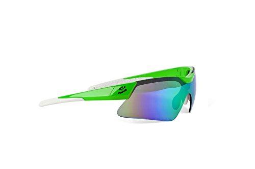 Spiuk Mamba - Gafas de Ciclismo Unisex, Color Verde/Blanco