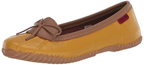 Chooka Women's Waterproof Ballet Flat, Mustard,8