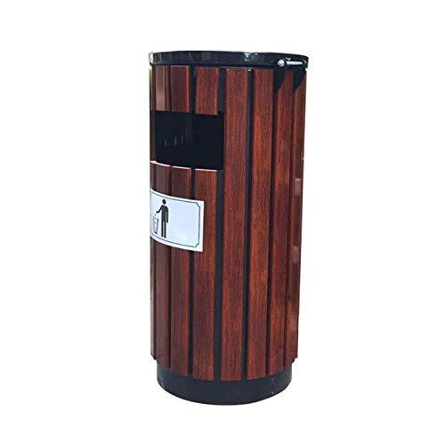 Zhenwo Outdoor Mülltonnen Abfalleimer Außen Holz Abfalleimer Hygiene Abfallbehälter Groß Peel Bin Abfalleimer Park Mülleimer Papierkorb Mit Aschenbecher Abfall,A
