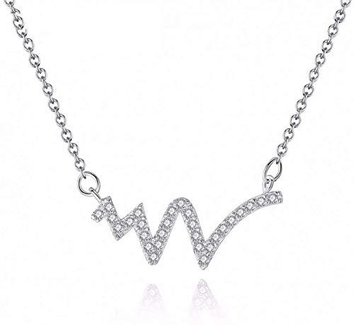 Stijlvolle eenvoud duidelijke zirkonia delicate hanger met doos ketting vrouwen bliksem ketting kristallen ketting sieraden geschenk, N-J 1