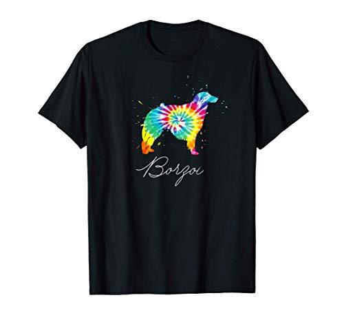 Perro de Tintura Borzoi Perro de Tintura Mamá Regalo de Amor Camiseta