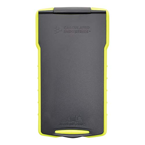 Calculated Industries 5032-5 Armadillo Gear Hard Protective Calculator Case in Lime Green