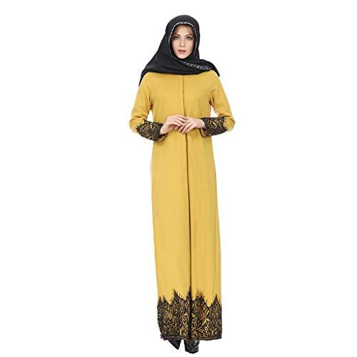 LILICAT Damen Lose Maxi-Kleid Muslimische Robe Vintage Slim Fit Rock Frauen Druck Lässige Temperament Schlank Nationalen Wind Edle Casual Prom Kleider Abendkleider