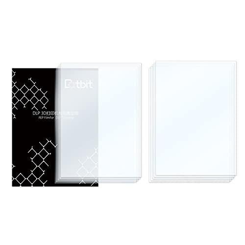 Fesjoy Fep Film, Professional FEP Film Sheet 200 * 140mm 0.15-0.2mm Thickness Transparent Release Film for Photon Resin 3D Printer SLA DLP 3D Printer Accessories, 10pcs
