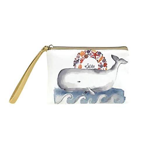 Bfmyxgs stilvolle Handtasche für Frauen Mädchen Geldbörse Make-up Tasche niedliche Leinwand Bargeld Handy Tasche mit Griff Brieftasche Tasche Geldbörse Handtasche Handytasche Clutch Bag