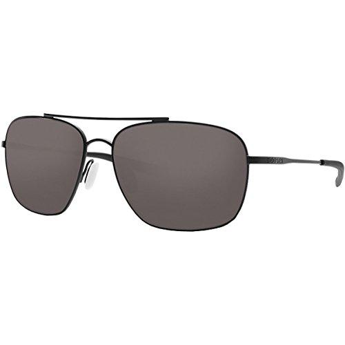 Costa Del Mar Unisex-Adult Canaveral Sunglasses, Satin Black/Gray 580P, 59 mm -  Costa del Mar Sunglasses, CAN 101 OGP