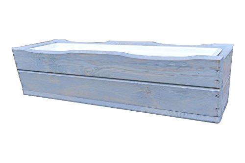 KENA D-8 Jardinière en bois de qualité supérieure - Longueur : 44/64 cm - Longueur : 64 cm - Gris