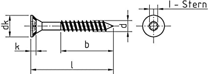 I-Stern//Teilgewinde 5 x 80 x 50 mm Universalschraube mit Senkkopf und Fr/äsrippen Galvanisch verzinkt gelb Chromatiert 200 St/ück Dresselhaus JD-79 0//1137//021//   5,0//   80//   50//03