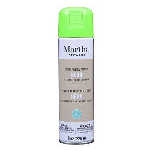Martha Stewart Paint & Primer 8oz Spray Paint, Gloss Neon Green 8 Ounce