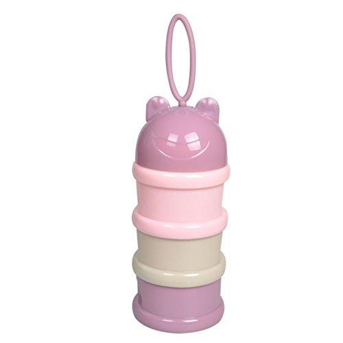Blaward Bote dosificador de leche en polvo, apilable 3 Capas Polvo Botella de Contenedor Portátil