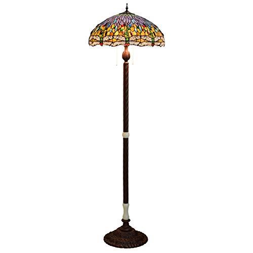 WJIE Tiffany / 50CM / vitral/Grande/lámpara de pie, lámpara de Dormitorio/Restaurante/Restaurante/Sala de Estar/Sala de exposiciones/Pasillo/balcón/Estudio