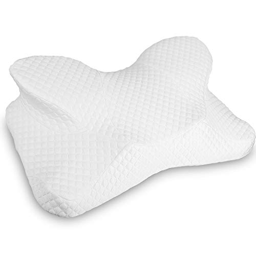 Contour Memory Foam Neck Pillow,Ergonomic Cervical Orthopedic Sutera Pillow for Sleeping, Neck Support Pillows for Side Sleepers, Back and Stomach Sleepers