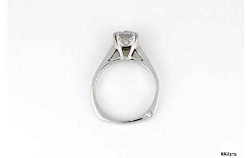 Solitaire 1.75ct taglio brillante rotondo anello di diamante anniversario di fidanzamento in oro 14K bianco massiccio da sposa donna vintage, tutte le dimensioni UK H a Z disponibile