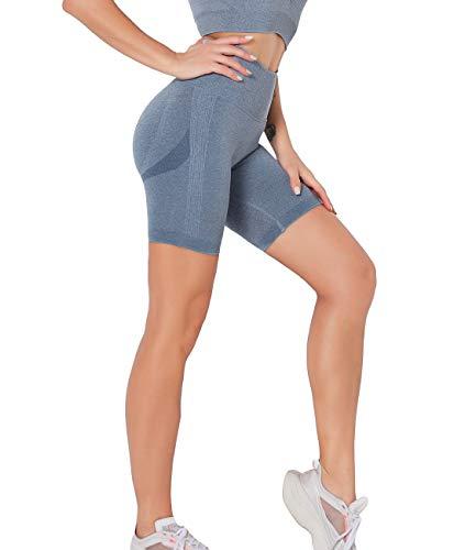 SLIMBELLE Pantalones Cortos Deporte Mujer Yoga Leggings Push up Short Mallas Running...