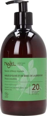 Najel Zeep Liquid Laurier 20% Pompfles, 500 Ml