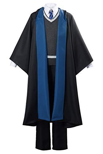 Bilicos Disfraz de uniforme escolar Ravenclaw para hombre, talla XL