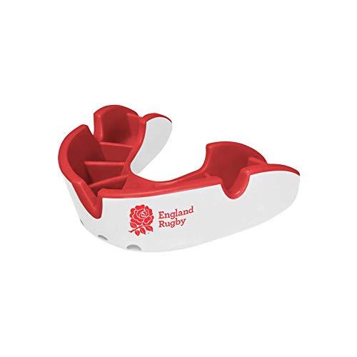 Opro Mundschutz Silver - Zahnschutz für Handball, Karate, Rugby, Hockey, Boxen, Lacrosse, American Football, Basketball - Selbst anformbar - im UK Entworfen & Hergestellt (England Rugby, Junior)
