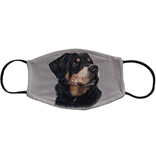 Cubreboca tapaboca Reutilizable ilustración de un Rottweiler Raza de Perro - Adulto