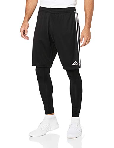 adidas Tiro 19 Two-in-One, Shorts Uomo, Black/White, M