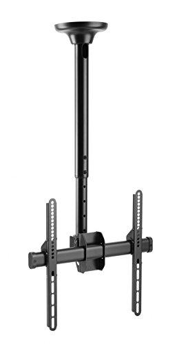 RICOO Fernseher TV Decken-Halterung Schwenkbar Neigbar Höhenverstellbar (D0244) Universal Fernsehhalterung für 23-55 Zoll (bis 50-Kg, Max-VESA 400x400) Curved LCD OLED Bildschirm