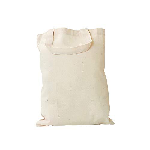 Sac en coton à anses courtes VBS, l 38 x H 42 cm