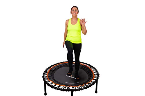 FIT BOUNCE PRO XL Bungee Rebounder USA | Half Folding Silent & Orthopaedic Quality Indoor Mini Trampoline for Adults & Kids | Exercise DVD| Extra Large Bounce Area Approved for Rebound & Physiotherapy