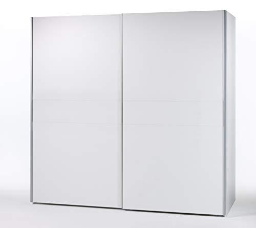 AVANTI TRENDSTORE - Magenta- Armadio con Ante scorrevoli in Legno Laminato, Molto spazioso ed Elegante. Disponibile in 2 Diverse colorazioni. Dimensioni Lap 270x210x63 cm (Bianco)