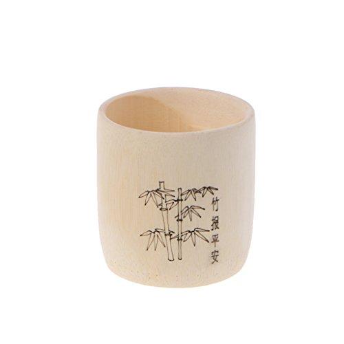 lijun Taza de Madera de bambú para Beber Café Taza de té Desayuno Cerveza Leche Copa de Vino