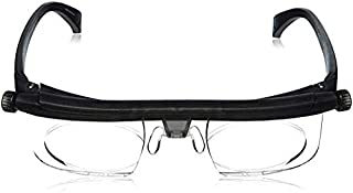 ⭐⭐⭐⭐⭐Instant 20/20 Adjustable Glasses, Adjustable Eyewear Instant 20/20 Vision Non Prescription Lenses Both Nearsighted Farsighted Variable Focus Glasses Computer Reading Driving Eyeglasses Men Women