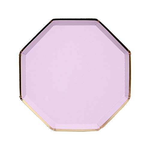 Meri Meri Pale Lilac Paper Plates - Disposable Party Supplies, For Birthday Parties, Baby Showers, and Wedding Celebrations, Medium 8.25 x 8.25 Inch Size, Pack of 8
