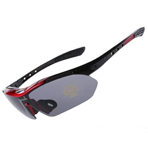 Outdoor-Radsportbrille, Polarisierte Sportsonnenbrillen, UV 400 Schutz Sportbrillen, Winddichtes Fahrrad-Mountainbike-Sonnenbrillen Männer Frauen, HD-Filtermembran, Schlagfest, Komfortabel & Leicht