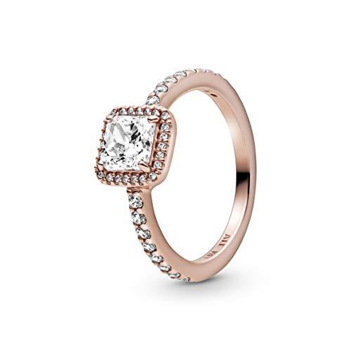 Pandora anillo Señoras Plata 925 / - 14 quilates Oro rosa pulido brillante No aplica 188862C01-60
