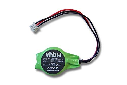 vhbw batería Bios 200mAh (3V) Notebook Laptop DELL Inspiron 1520 1521 1720 1721, Vosto 1500 1700, XPS 1318, XPS M1330 M1340 por 23.22056.001, CB28.