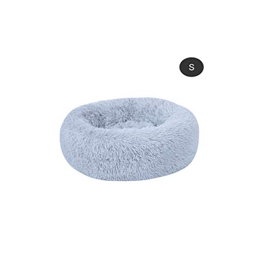 Old street Pet Cat Bed Soft Warm Round Bed Nest Dog Cat House Washable Kennel Dog Bed House Pet Cat Dog Beds,Gray,50X20Cm
