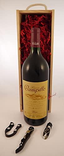 Rioja 1987 Campillo MAGNUM en una caja de regalo con tres accesorios de vino, 1 x 1500ml