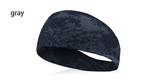 ATUCCO Superweiche Männer Sport Turban Stirnband Schweißband Stretch elastische Yoga Haarbänder Kopf Schweißbänder Sport Sicherheit für Männer und Frauen, hellgrau
