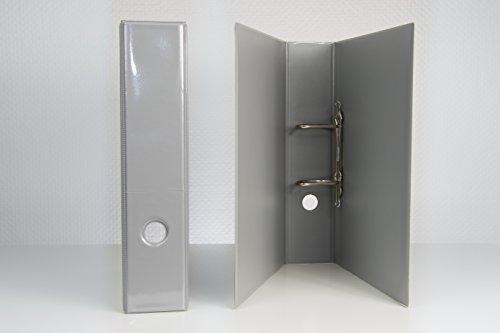 2 DIN A 4 Präsentations - Ordner in grau 65 mm breit aus deutscher Produktion