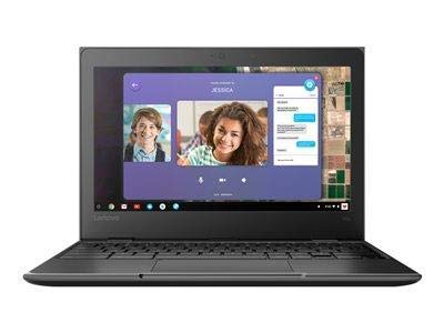 Lenovo 100e Chromebook (2nd Gen) MTK 81QB0004 11.6' HD Laptop, MediaTek MT8173C (4 Core, 2.10 GHz), 4GB LPDDR3 RAM, 32GB SSD, PowerVR GX6250 Graphics, Chrome OS - UK Keyboard Layout. (Renewed)