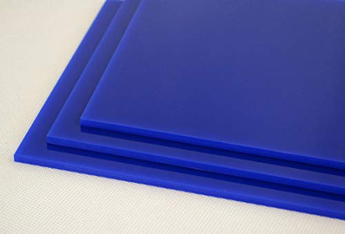 Pack de láminas tableros de metacrilato azul marino OPACO de 3mm. Para decoración, artistas, fotografías, vinyls, soportes, manualidades, CNC, laser, regalos. (A4 (10 uds 297x210mm))